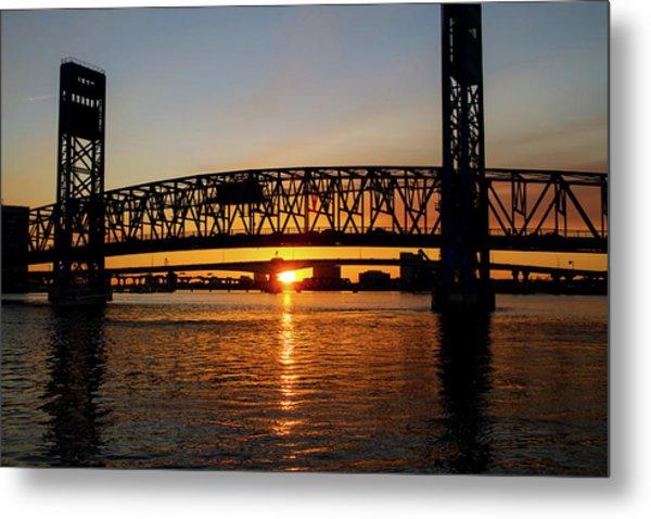 Sunset Bridge 5 Metal Print