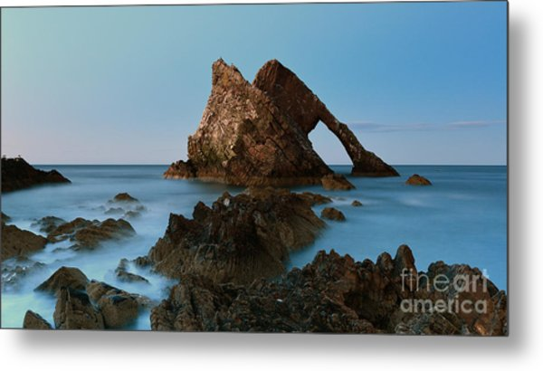 Sunset By Bow Fiddle Rock Metal Print by Maria Gaellman