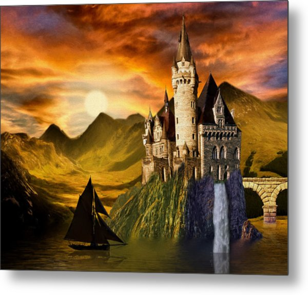 Sunset Castle Metal Print