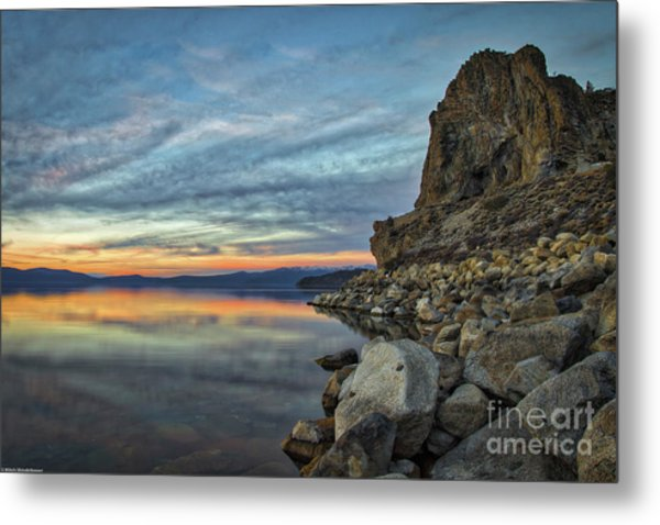 Sunset Cave Rock 2015 Metal Print