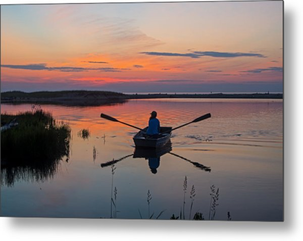 Sunset  Crossing Metal Print