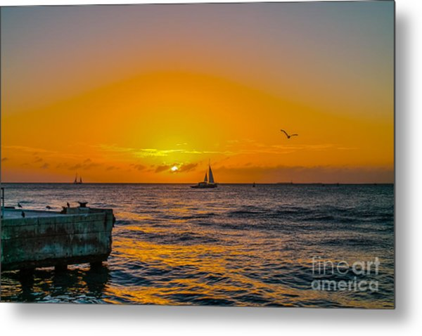 Sunset Cruise - Key West 2 Metal Print