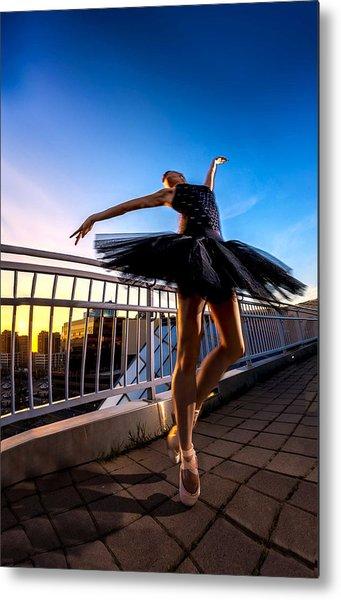 Sunset Dancer Metal Print