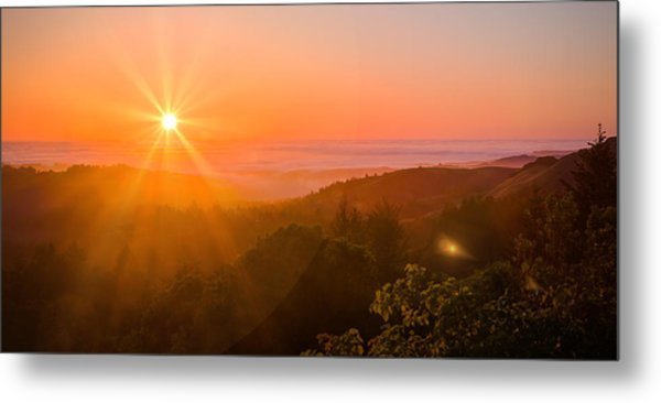 Sunset Fog Over The Pacific #1 Metal Print