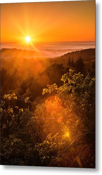 Sunset Fog Over The Pacific #2 Metal Print