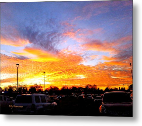 Sunset Forecast Metal Print