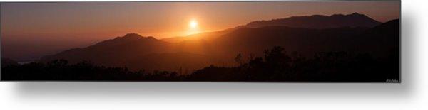 Sunset From Marine Headlands San Francisco Metal Print