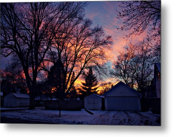 Sunset From My View Metal Print