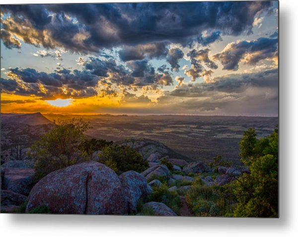 Sunset From The Heavens Metal Print