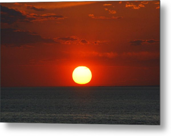 Sunset From The Montauket Hotel Metal Print