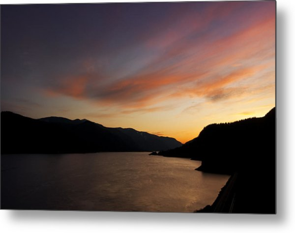 Sunset From Tunnel 6 Metal Print