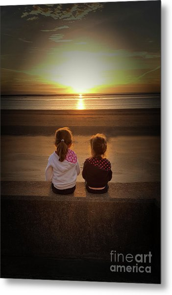 Sunset Sisters Metal Print
