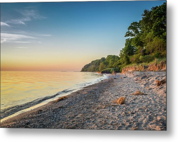 Sunset Glow Over Lake Metal Print