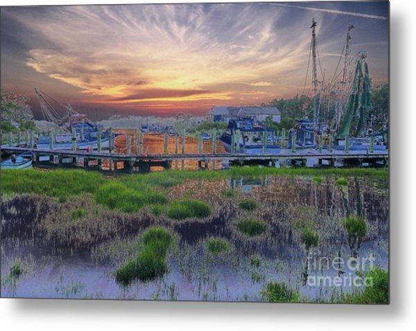Sunset Harbor Dream Metal Print