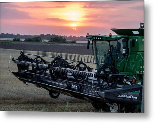 Sunset Harvest Metal Print by Lori Root