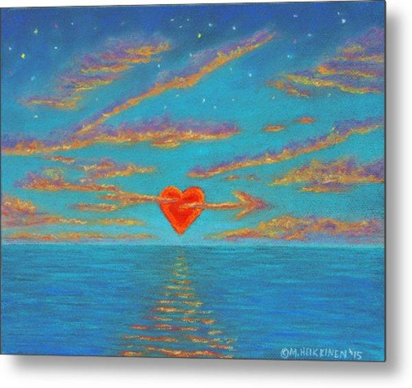 Sunset Heart 01 Metal Print