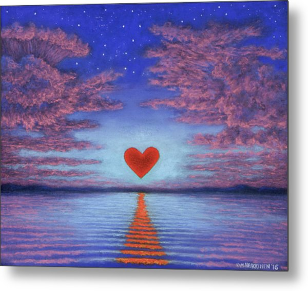 Sunset Heart 02 Metal Print