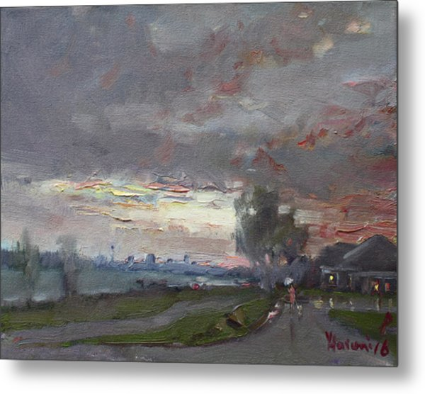 Sunset In A Rainy Day Metal Print