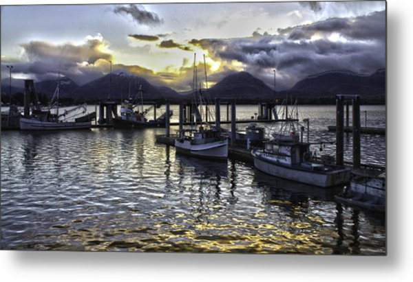 sunset In Alaska Metal Print