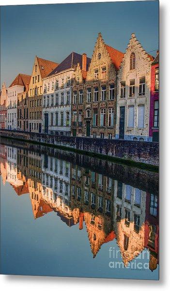 Sunset In Bruges Metal Print