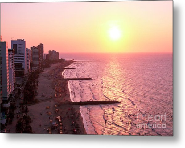 Sunset In Cartagen Metal Print by John Rizzuto