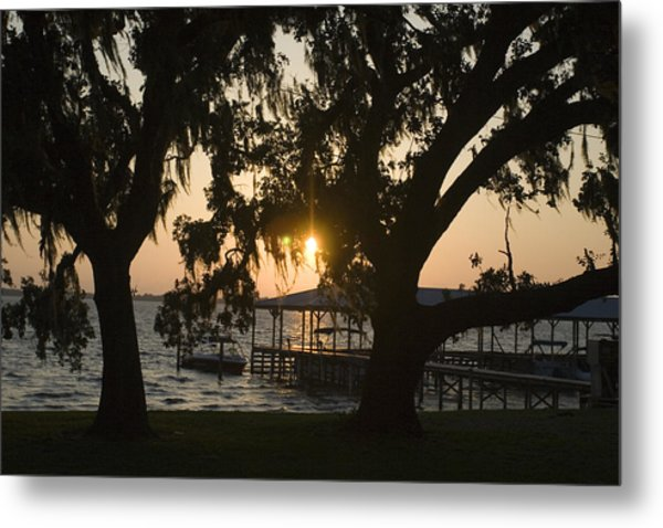 Sunset In Central Florida Metal Print by Christopher Purcell