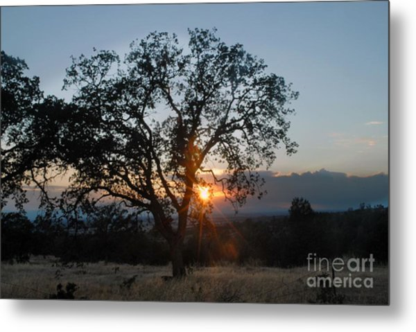 Sunset In Chico Metal Print by Richard Verkuyl