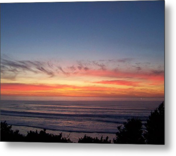 Sunset In December Metal Print