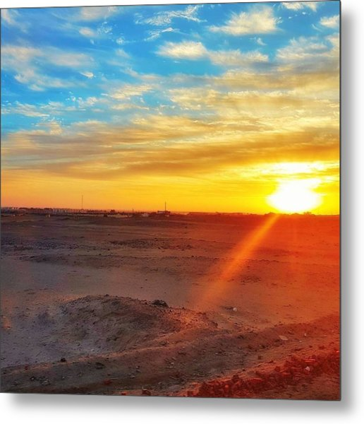 Sunset In Egypt Metal Print