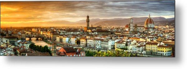 Sunset In Florence Metal Print