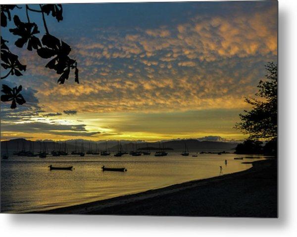 Sunset In Florianopolis Metal Print