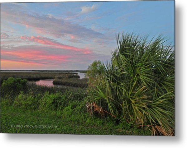 D32a-89 Sunset In Crystal River, Florida Photo Metal Print