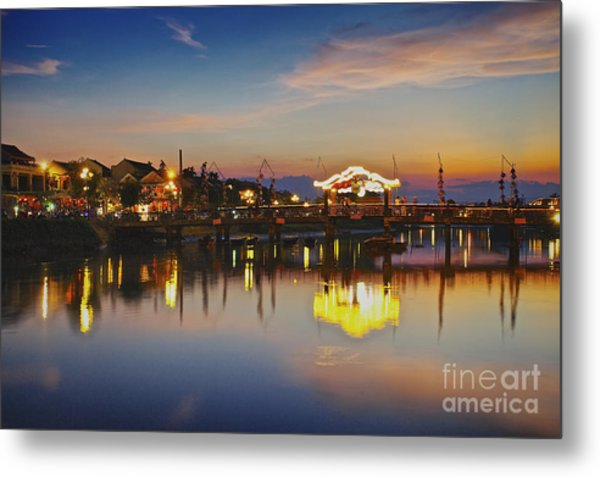 Sunset In Hoi An Vietnam Southeast Asia Metal Print