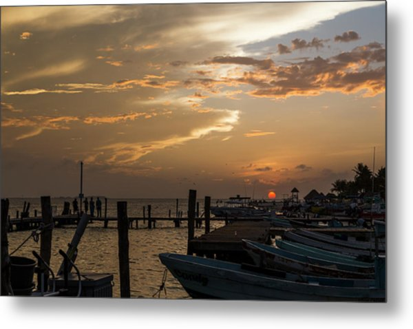 Sunset In Isla Mujeres II Metal Print