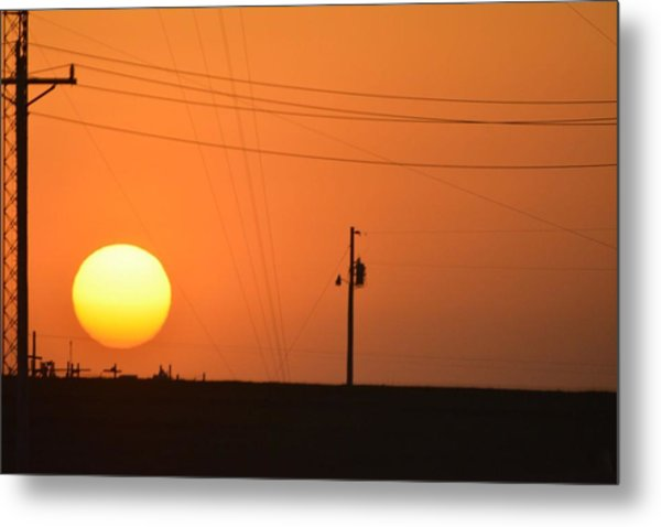 Sunset In Kansas Metal Print