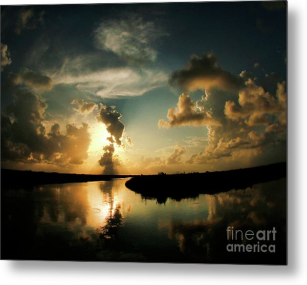 Sunset In Lacombe, La Metal Print