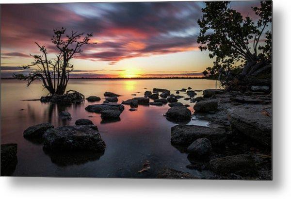 Sunset In Merritt Island - Florida, United States - Seascape Photography Metal Print by Giuseppe Milo