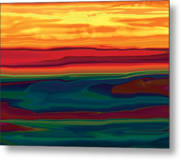 Sunset In Ottawa Valley Metal Print