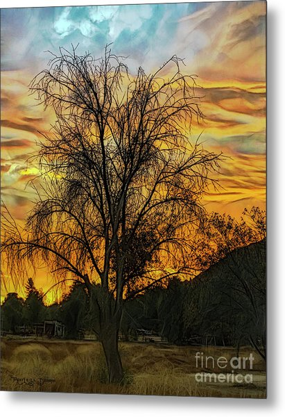 Sunset In Perris Metal Print