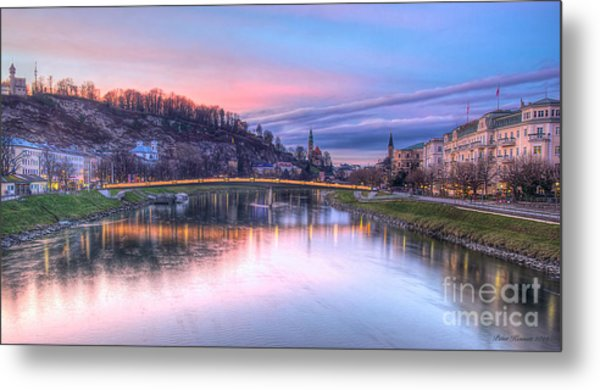 Sunset In Saltzburg Metal Print