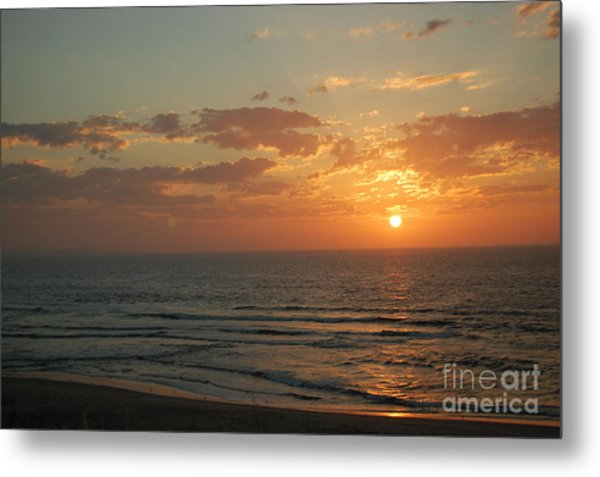Sunset In Santa Cruz Metal Print