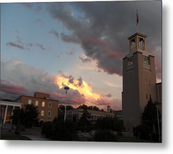 Sunset In Santa Fe Metal Print