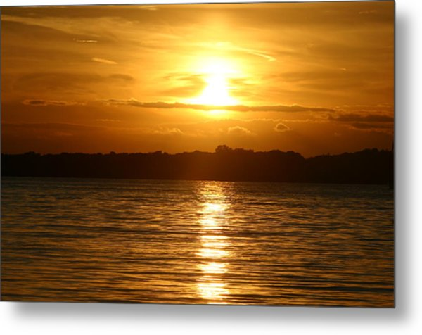 Sunset In Shelter Island  Metal Print by Matthew Kennedy