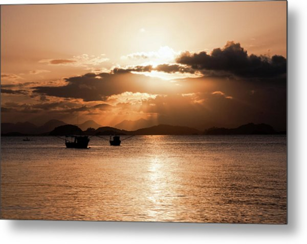 Sunset In Southern Brazil Metal Print