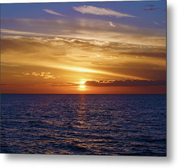 Sunset In Sw Florida Metal Print