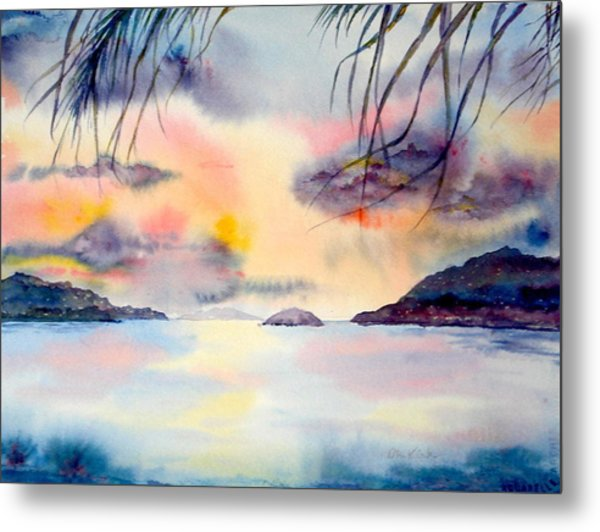Sunset In The Caribbean Metal Print