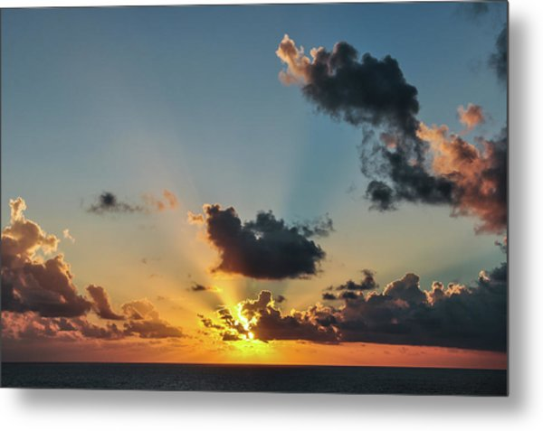 Sunset In The Caribbean Sea Metal Print