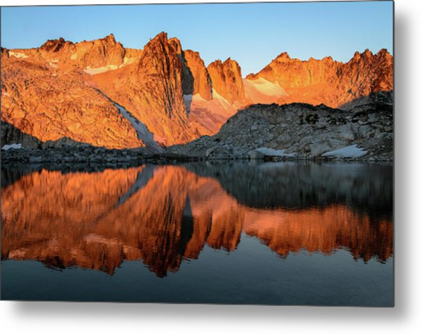 Sunset In The Higher Enchantment Metal Print