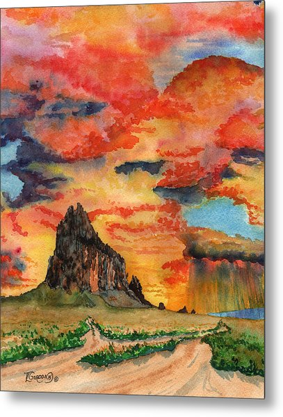 Sunset In The West Metal Print