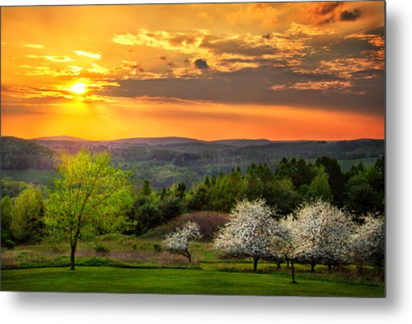 Sunset In Tioga County Pa Metal Print